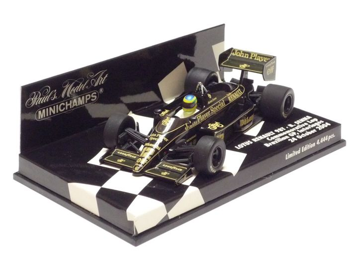 MiniChamps - 1:43 - Lotus Renault 98T B. Senna Brazilian GP 2004 - Limited Edition or 4,444 pcs.