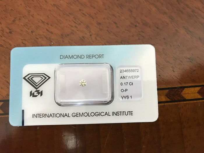Diamond IGI certificate 0.17 ct