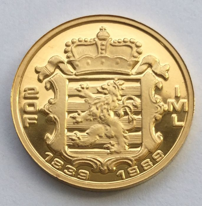 Luxembourg - 20 francs 1989 - 150th Anniversary of the Grand Duchy - 1/5 oz gold