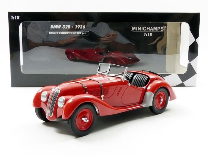 MiniChamps - 1:18 - BMW 328 1936 - Limited Edition or 504 pcs.