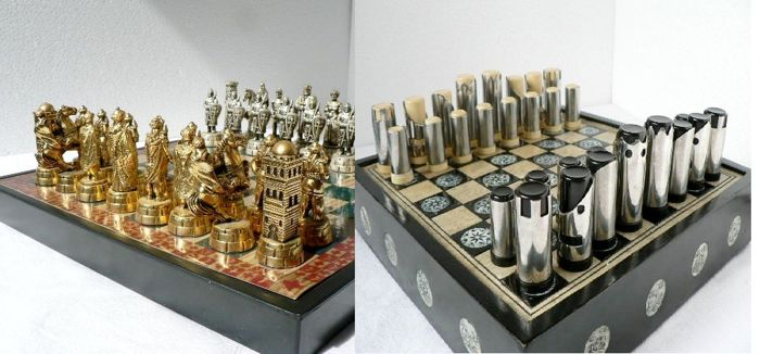 unique chess sets two unique chess sets catawiki 29893