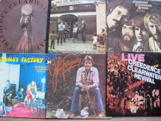 Lot with 6 great Albums of Creedence Clearwater Revival & Solo