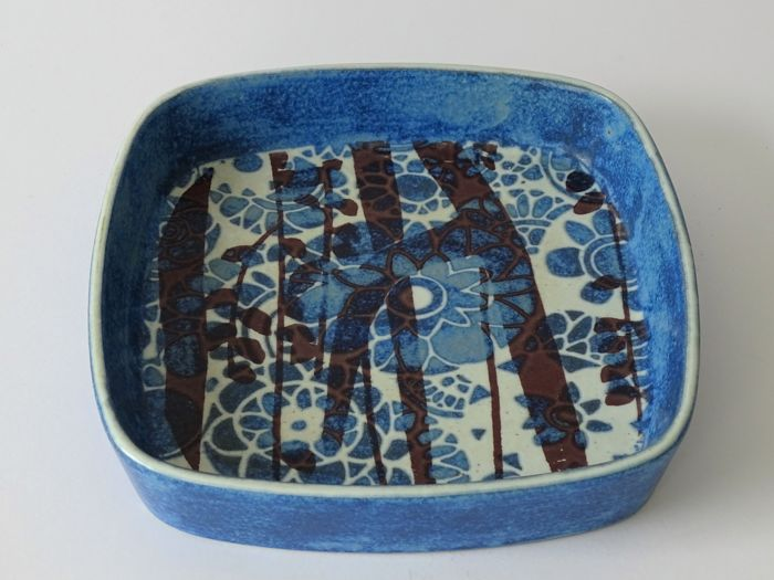 Johanne Gerber for Royal Copenhagen - Blue Baca faience bowl