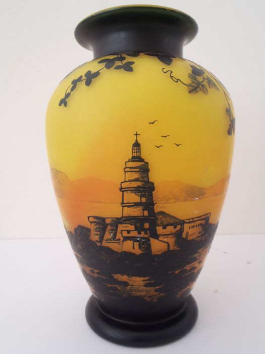 J.Michel Paris - Large Cameo glass vase