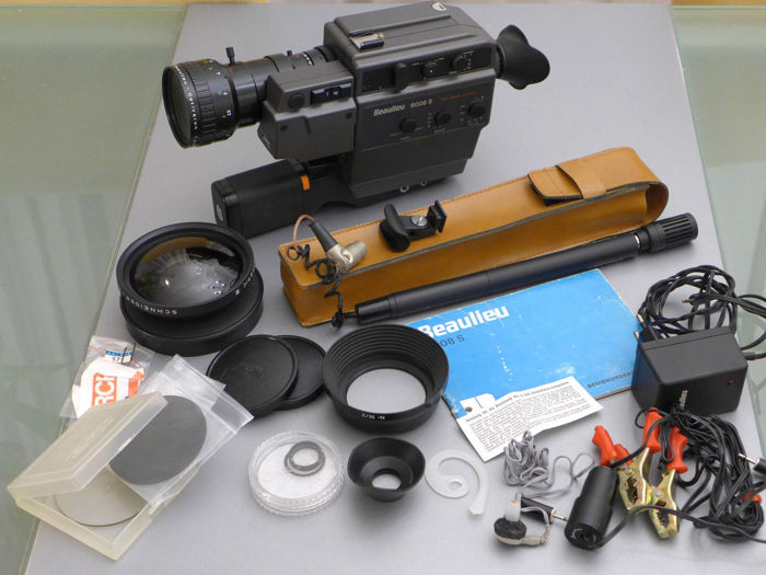 Beaulieu 6008S film camera + Schneider Kreutznach wide lens with accessories