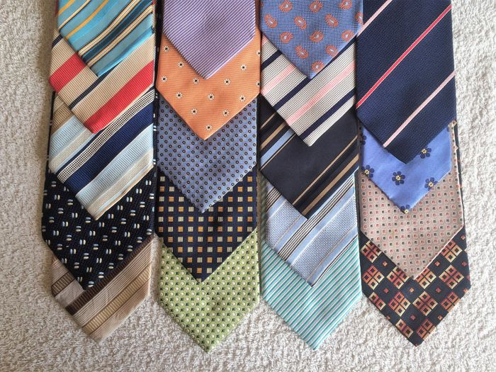 Lot of 19 Profuomo Ties, 100% Silk  - Ties