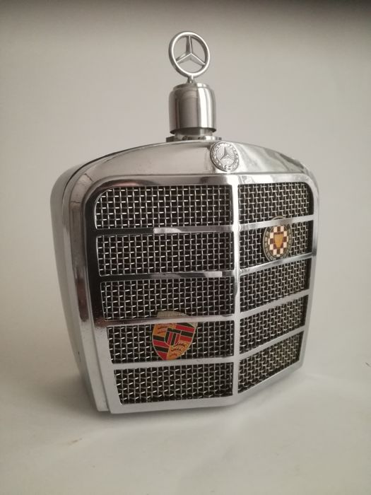 Mercedes Grill as a drink bottle with music box