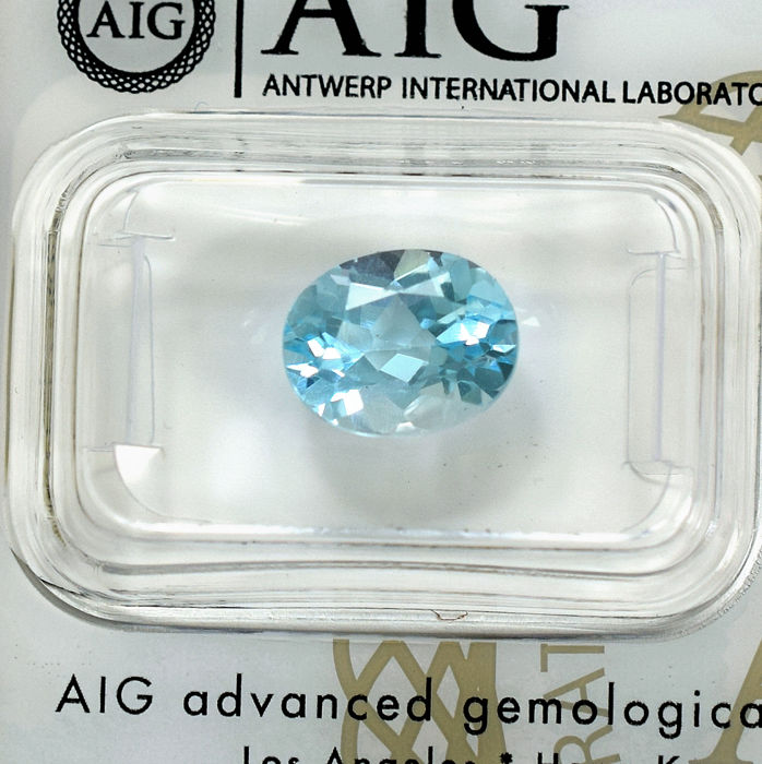 Sky Blue Topaz - 3.43 ct, No Reserve Price