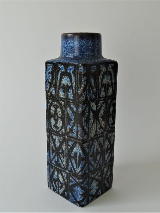 Nils Thorssen for Royal Copenhagen - Blue Baca faience vase