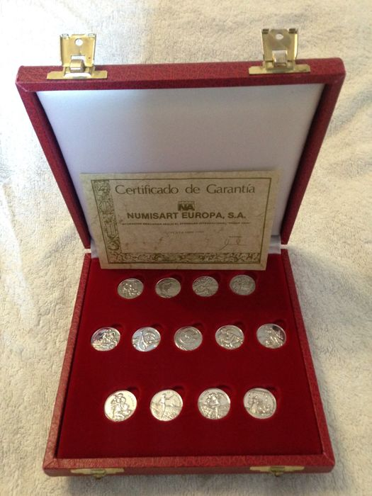 Biblical wedding Arras in silver 1000/1000, with certificate of authenticity