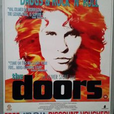 Iconic movie/ video  poster from the film, 'The Doors' staring Val Kilmer( 59 cm x 42 cm approx' ).