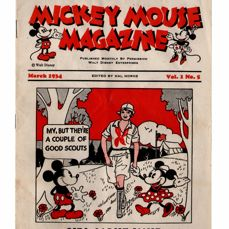 Mickey Mouse Magazine - Volume 1 - No. 5 - Girl Scout Issue - sc first edition (1934)