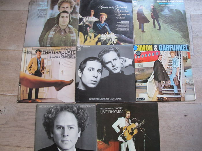 Nice Lot with 8 Great Original Albums of Simon & Garfunkel and Solo