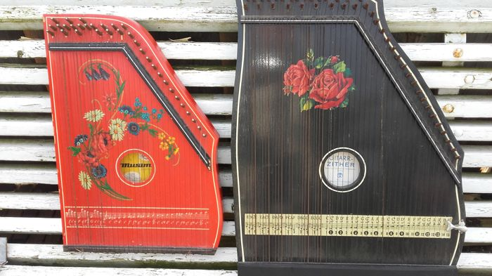 2 x guitar zither - 1980 - Germany