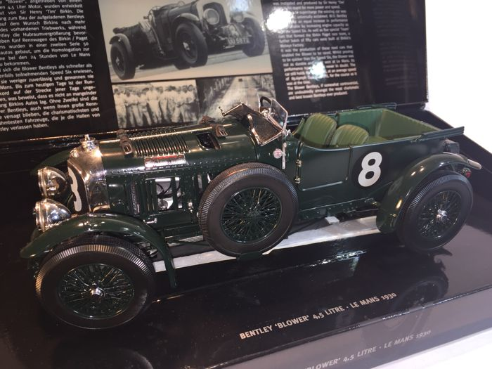 Minichamps - Scale 1/18 - Bentley Blower 4 1/2 Litre Supercharged no. 8 Le Mans 1930