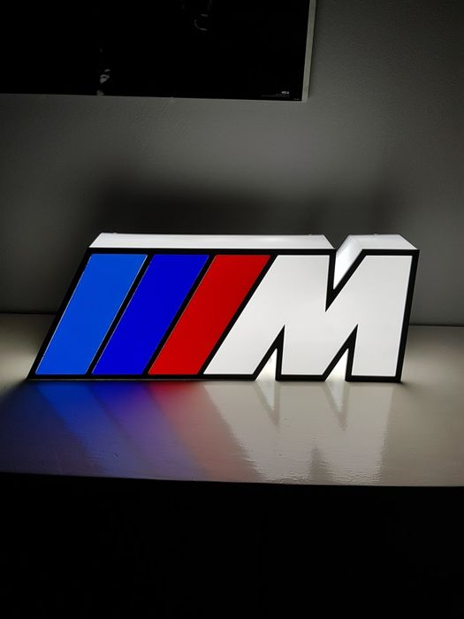 Decorative object - rare BMW M power collector sign