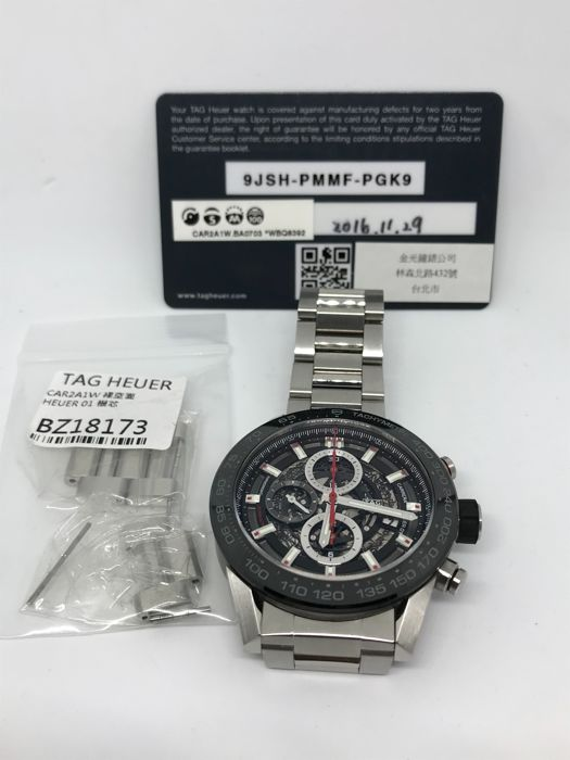 TAG Heuer - Carrera Heuer-01 Chronograph  - CAR2A1W - Heren - 29/11/2016