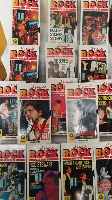 The Great Rock Lot Of 15 Cassette VHS 80s Musical Groups