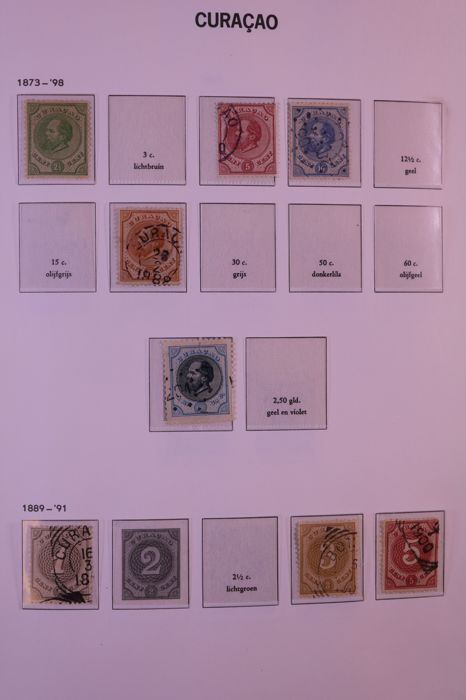 Netherlands Antilles 1873/1988 - Collection in Davo crystal preprint album