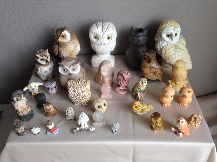 Nice collection of owls. 65 items