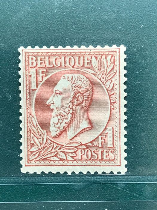 Belgium 1884 - King Leopold II 1 Franc red-brown - OBP 51
