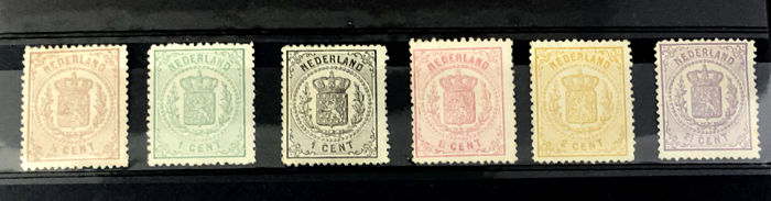 The Netherlands 1869 - Coat of arms stamps - NVPH 13/18