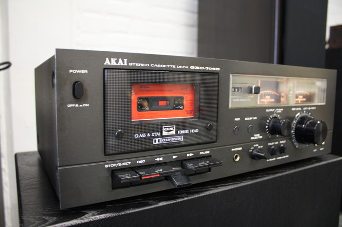Akai GXC-706D top deck by Akai with Glass and X'tal Ferrite heads