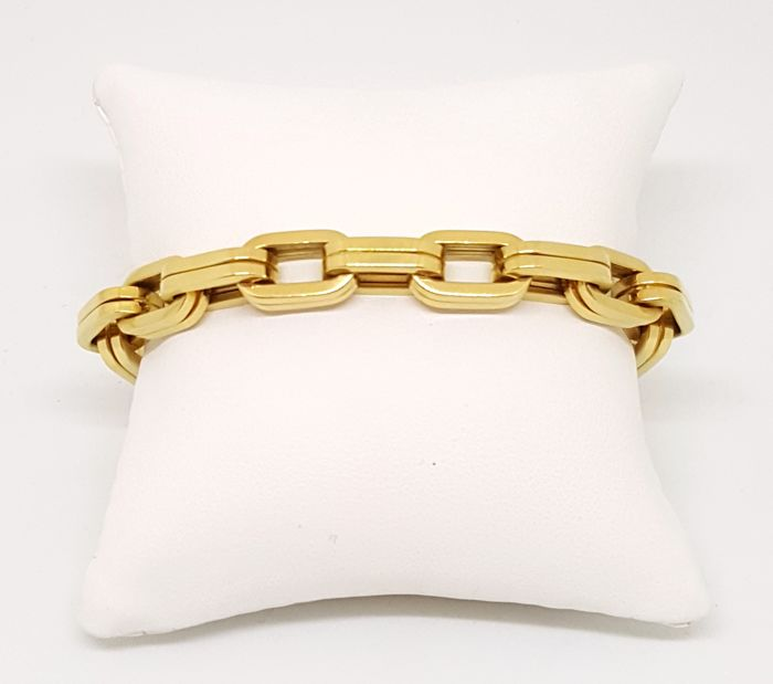 18 kt yellow gold bracelet, weight 25.27 g, length 19 cm