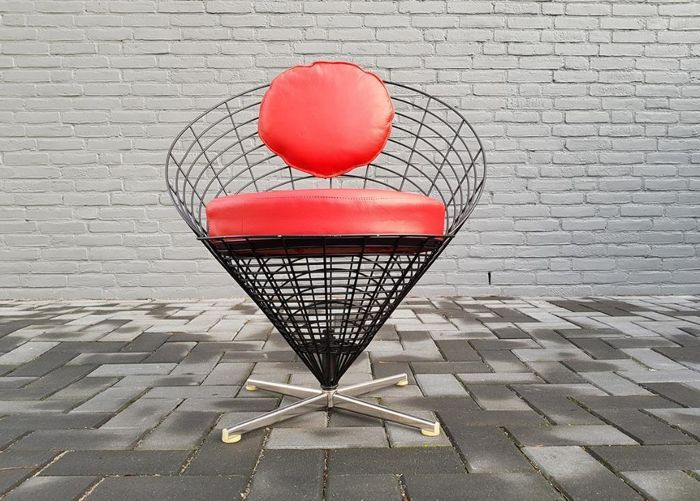 Verner Panton for Plus Linje – K2 Wire Cone chair