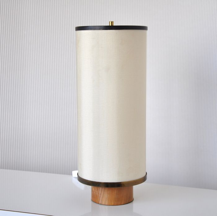 Manufacturer unknown vintage mid century modern tubular case table manufacturer unknown vintage mid century modern tubular case table lamp with fabric teak mozeypictures Choice Image
