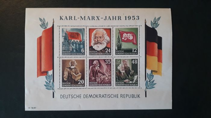 DDR 1950/1970 - Block of stamps
