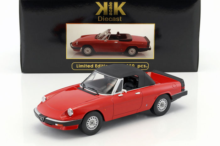KK-Scale - Scale 1/18 - Alfa Romeo Spider 3 Series 1 - Red