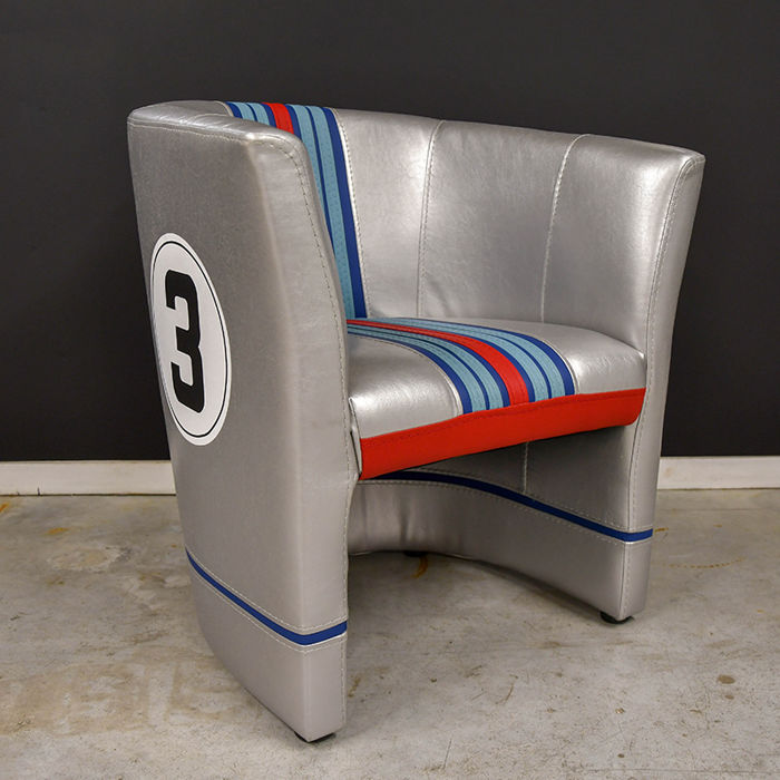 Club chair, Martini Porsche 917k theme, Sebring 12hrs 1971 No22