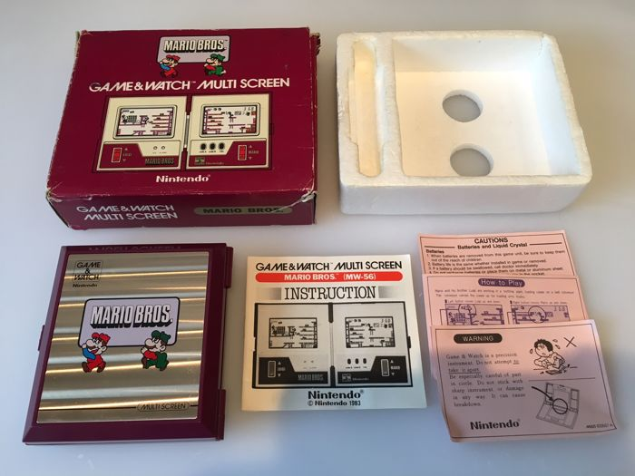 Nintendo Game & Watch Multi Screen Mario Bros 1983 - In Original Box with Original Instruction Booklet