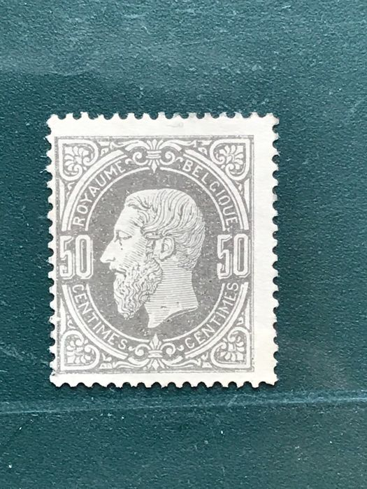 Belgium 1869 - 50 centimes King Leopold II - OBP 35a