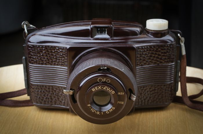 GEVAERT Rex Lujo brown Made in Argentine 1946