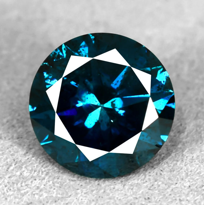 Intense Blue Diamond - 2.07 ct