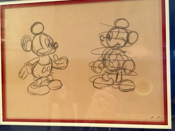 Walt Disney Studios - Original Sketch - Mickey Mouse