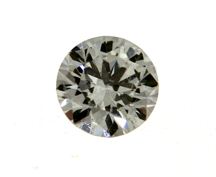 Brilliant cut diamond, 0.35 ct G/S 1 HRD certificate, with laser engraving