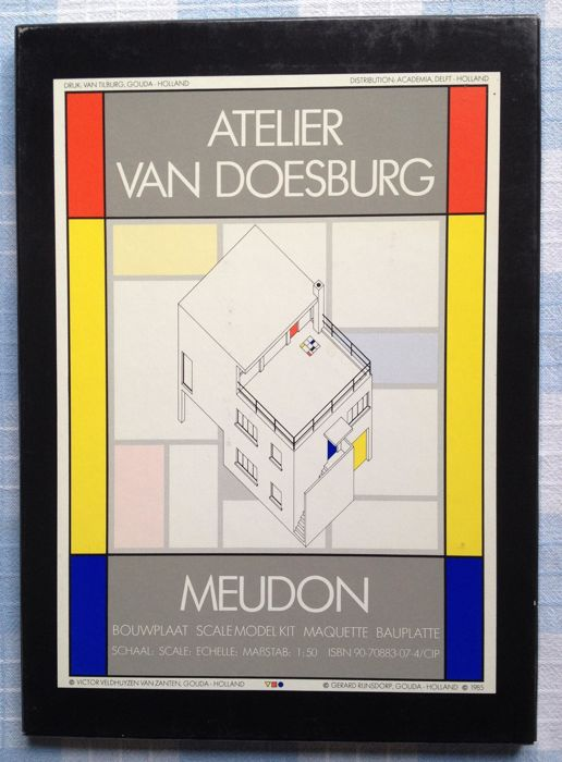 Theo van Doesburg - Meudon, The Doesburg House, model kit scale 1:50