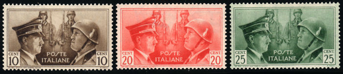 Italy, Kingdom, 1941 - Italo-German Axis Brotherhood in Arms, not issued - Sassone  No. S.97