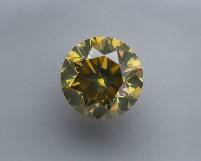 1.26 ct - Natural Fancy Diamond - Brownish Yellow - SI2 *NO RESERVE*