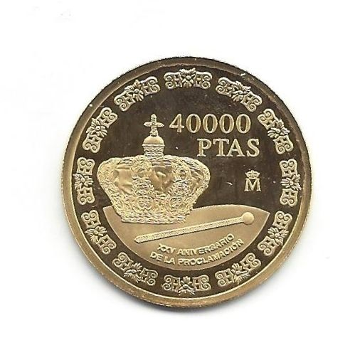 Spain 2000 - 25th Anniversary Juan Carlos I - 40,000 gold pesetas and 2,000 silver pesetas - Proof Set