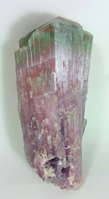 Large Multi Color Tourmaline Crystal DT From Poproke Afghanistan - 14.4 x 6.6 x 6.0 cm - 786 gm