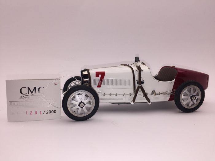 CMC - Scale 1/18 - Bugatti Typ 35 no. 7 GP National Colour Project Poland 1924