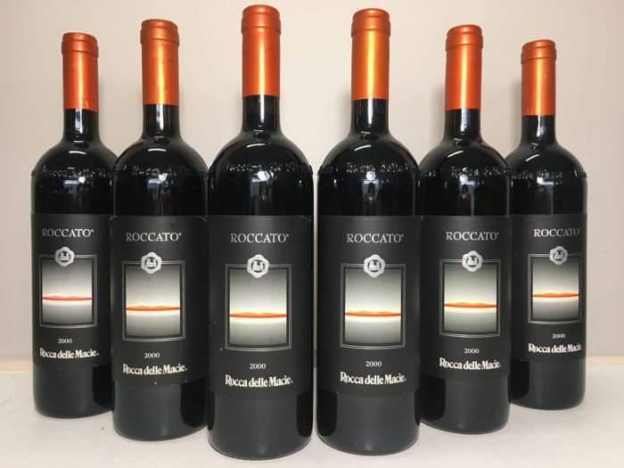 2000 Rocca delle Macie Roccato, Toscana IGT, Tuscany, Italy - 6 bottles (75cl)