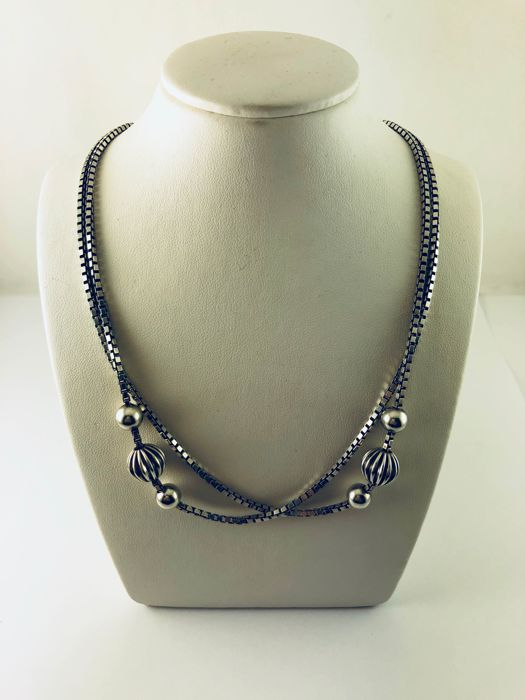925 silver necklace - 29 cm long