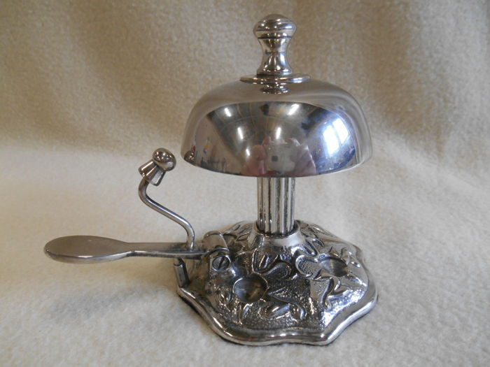 Heavy silver plated Hotel Bell - Desk bell France Circa 1900