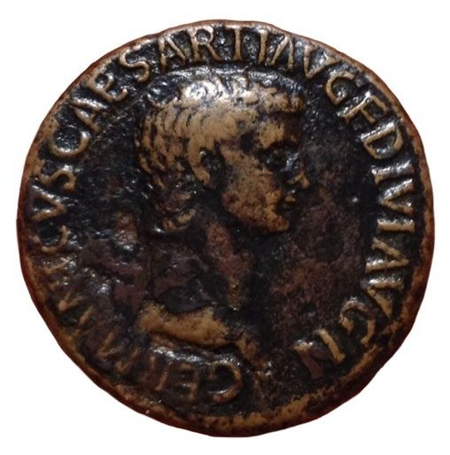 Roman Empire - Germanicus, father of Caligula - Æ As (29mm; 10.44gm), Rome c. 50-54 AD - Head / S C - RIC I, 106