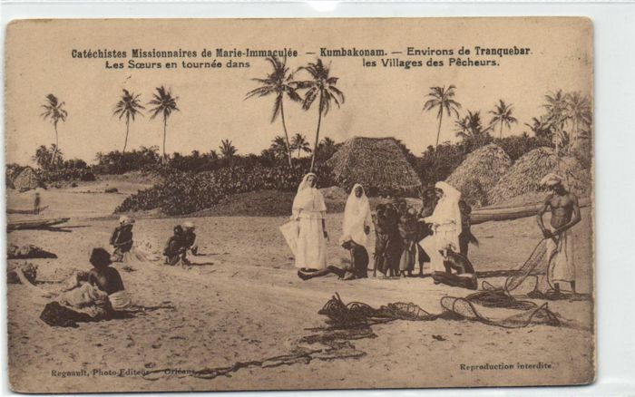 India, Mission cards 54X - Various Types, sights and charities - 1910/1940